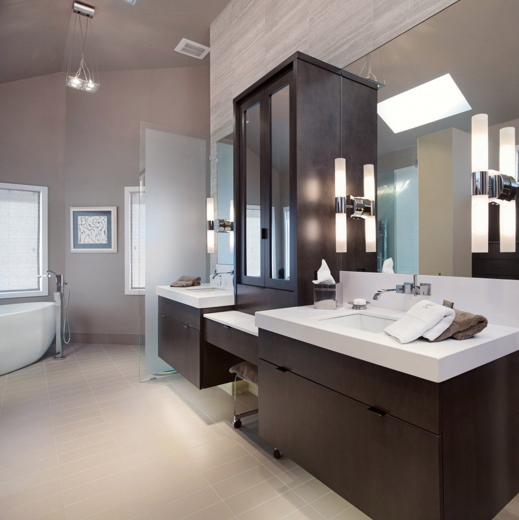 Modern bathroom cabinets vanities level line cabinets - Pictures of vanities in bathrooms ...