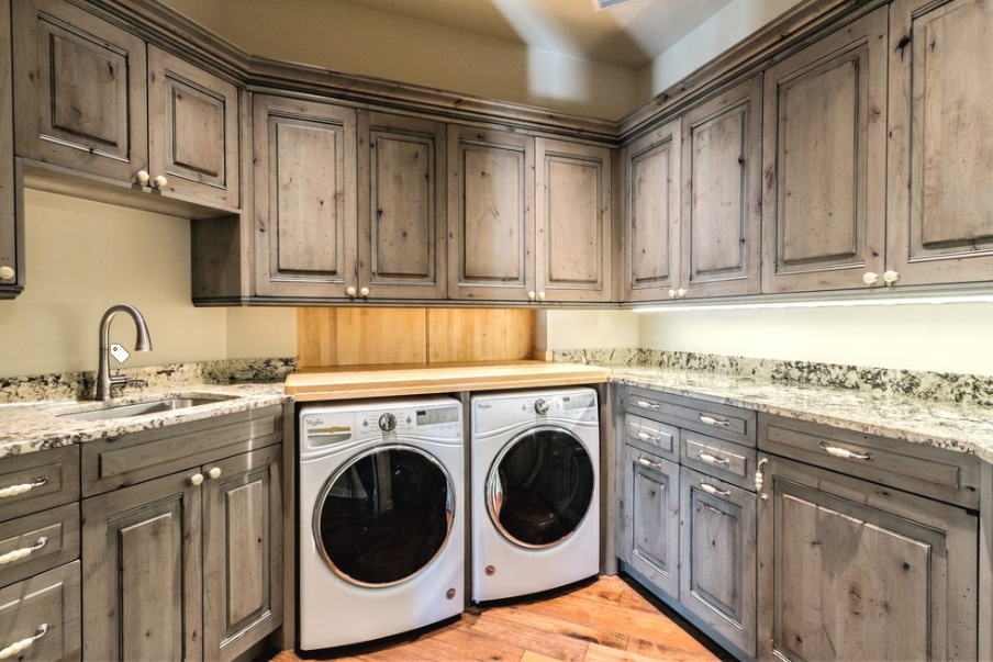 Feature Project Grand European Country Estate Home Level Line Cabinets