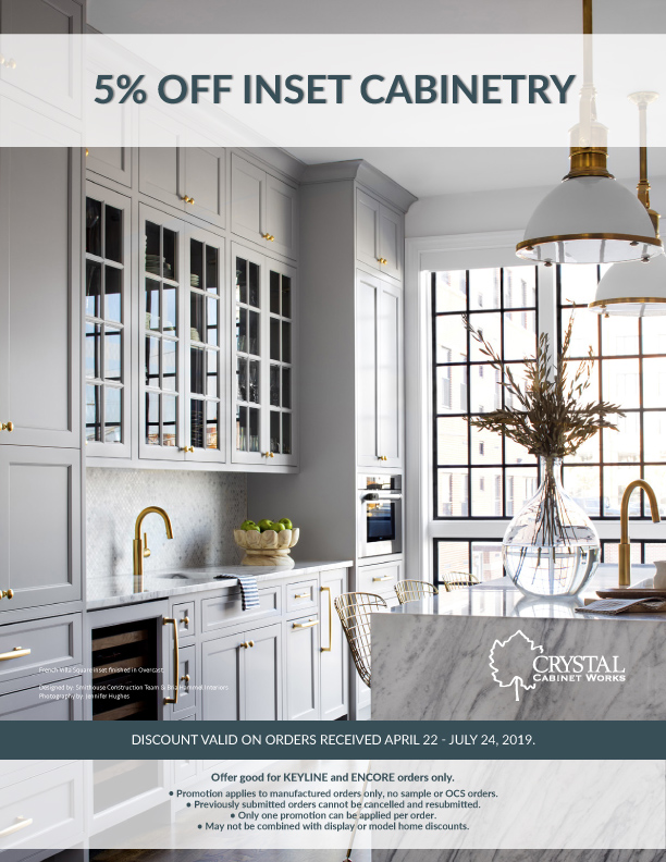 5% OFF INSET CABINETRY