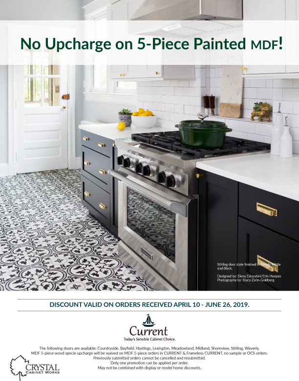 No Upcharge on 5-Piece Painted MDF!